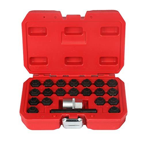 4pcs M14 x 1.5mm Boulon de Roue en Acier et /Écrou de Roue /Écrou de Cadenas Boulon de Protection de Roue avec Pi/èces de Rechange Cl/és