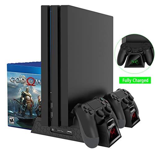 GLOGLOW Remplacement Interne du Ventilateur de Refroidissement PS4 R/éparation du kit de Pi/èces D/étecteur Double du Chargeur de la Station pour Le Mod/èle Sony Playstation 1000//1100