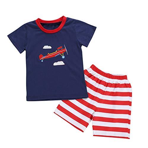 KUKICAT Pyjamas Enfant Imprim/é /à Manches Longues Tee-Shirt Dinosaure Dessin Anim/é Costume de Service /à Domicile Sleepwear