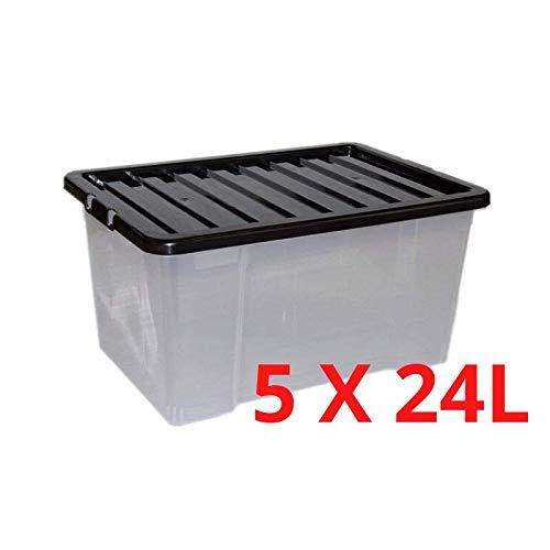 36 x 27 x 22 cm CURVER 226630 Bac Infinity 17L Dots Gris Plastique