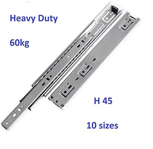 500 mm Durable et Facile Gedotec Set de Rails Tiroirs Ouverture /& Fermeture Automatique Syst/ème Coulisse /à Bille et Circulation de Ch/âssis Grande Capacit/é de Charge Solide 1 Set