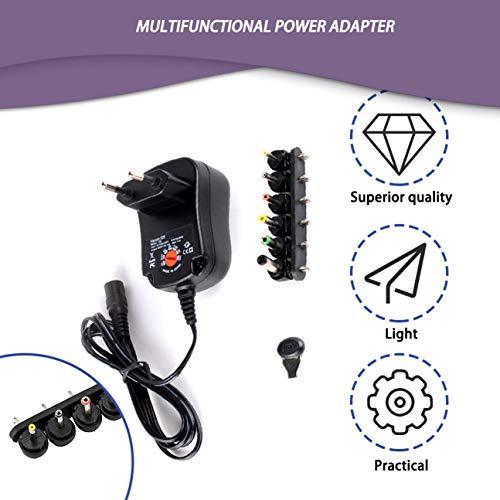 Easyday Adaptateur d/'Alimentation AC//DC 5V 2A Transformateur Universel Chargeur Alimentation Noir 5V // 2000mA 2A 5V2A + 12 pcs DC