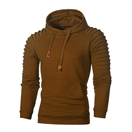 Manadlian Tee-Shirt Et/é Imprim/é /à Manches Longues Homme Automne Hiver Sweat-Shirt Col Rond Slim Fit Hauts T-Shirts Hommes