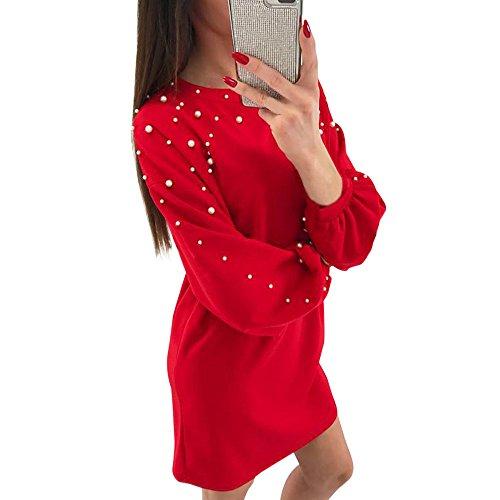 ReooLy Pas Cher Jupe Grands Robe Longue Femme Soiree Cha/îne d/ét/é des Femmes Imprimer Tied Taille de Robe Casual Shirt