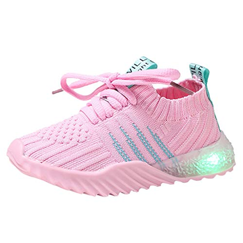 Chaussures Enfant Sport Mesh Respirant Sneakers Fille Garcon Baskets Lettre Fond Mou Antid/érapant Running Youngii ,Noir,Rouge,Blanc