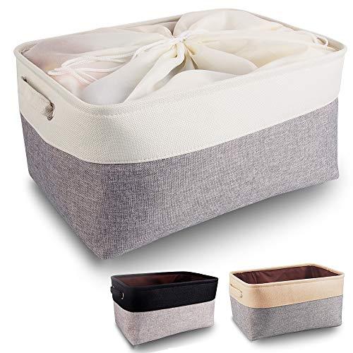 mDesign Boite de Rangement tiroir Rangement vêtement en Plastique pour Chaussettes Transparent ...