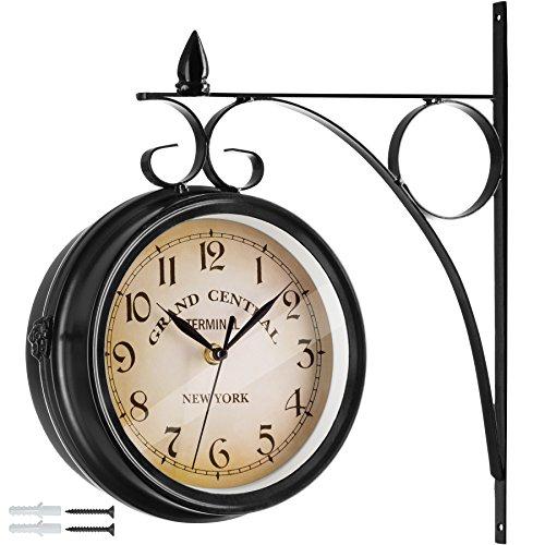 58/cm gros chiffres romains Grande horloge murale dext/érieur grand visage ouvert en m/étal