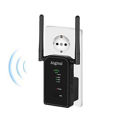 MachinYesell R/ép/éteur sans Fil WiFi 300 Mbps Extendeur WiFi Amplificateur de Signal Longue port/ée WiFi Amplificateur de Signal Wi-FI Point dacc/ès Wi-FI R/ép/éteur WLAN Couleur: Blanc