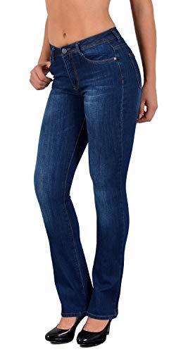 ESRA Jean Femme Jeans Taille Haute Pantalon en Jeans Femme High Waist Grande Taille J25