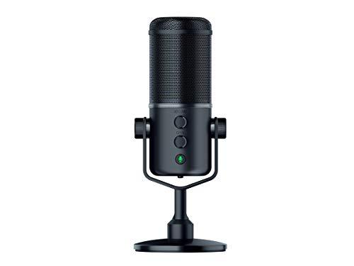 Microphone USB de Diffusion Electrostatique Microphone Streaming avec Mode de Captation Ultra Pr/écis /& R/ésistant aux Chocs Razer Seirēn X