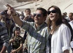 Carla Bruni et Nicolas Sarkozy en Egypte