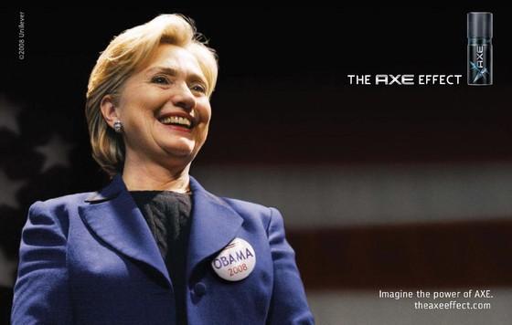 L'effet Axe : Hillary Clinton soutient Barak Obama