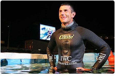 Stéphane Mifsud, recordman du monde d'apnée