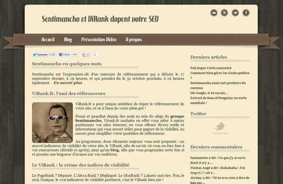 Capture d'écran de www.virank.fr